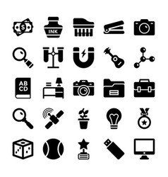 School and education icons 6 vector