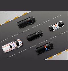 service cars motorway composition vector image