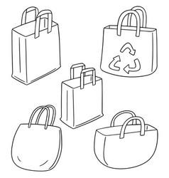 set of bag vector image