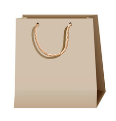 Shopping paper brown bag isolated on white vector