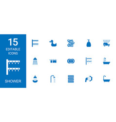 shower icons vector image
