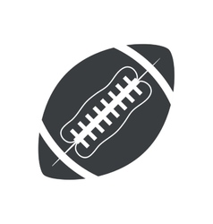 silhouette ball american football sport vector image