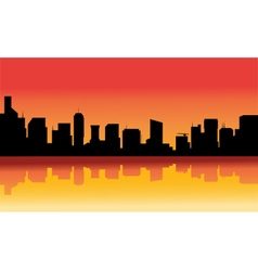 Silhouette of beauty the city vector