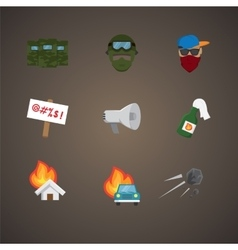 Simple set of protest related flat icons vector