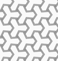 Slim gray tetrapods with striped bevel vector
