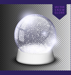 snow globe isolated template empty on transparent vector image