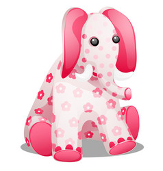 soft toy in the form of an elephant with a print vector image