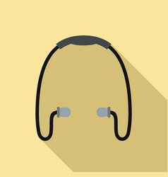 sport wireless earbuds icon flat style vector image
