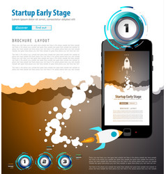 Startup landing webpage or corporate design vector