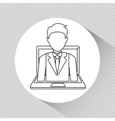 Successful businessman design vector