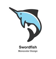 Swordfish monocolor vector