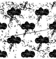Thunderbolt pattern grunge monochrome vector image