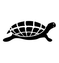 turtle tortoise icon black color vector image