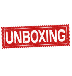 Unboxing grunge rubber stamp vector
