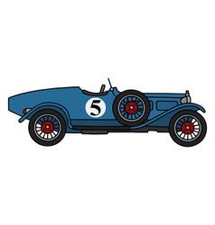 Vintage blue racing car vector