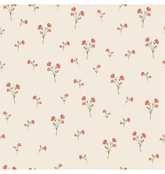 Vintage carnations pattern vector
