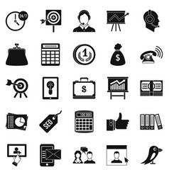 Viral marketing icons set simple style vector