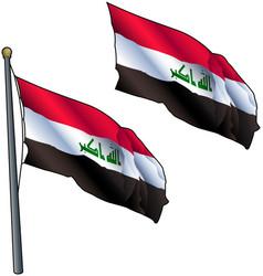 Waving iraq flag vector
