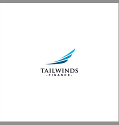 Wind and sail logo template design vector