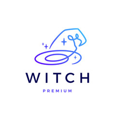 Witch hat logo icon vector