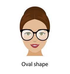 Woman oval face shape vector