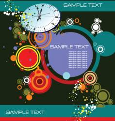 grunge background with clock image vector image vector image