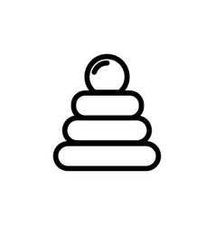 Baby pyramid toy thin line icon outline symbol vector