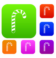 candy cane set collection vector image vector image
