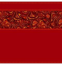 dark red stripe seams vector image vector image