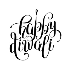 hand lettering inscription Happy Diwali to indian vector image vector image