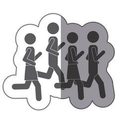 people men jogging icon stock vector image vector image