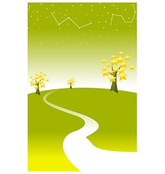 astrology sign in sky vector image vector image