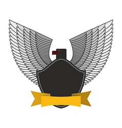 Black Eagle with white wings Logo or emblem fo vector image vector image