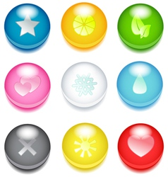 colored icons vector image