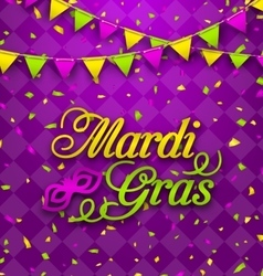 Mardi Gras Lettering Background Invitation for vector image