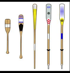 oars vector image vector image