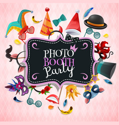 photo booth party background vector image vector image