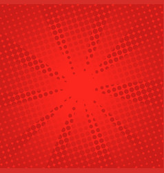 Retro rays comic red background vector