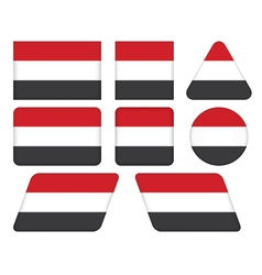 buttons with flag of Yemen vector image vector image