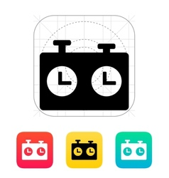 Chess clock icon vector image vector image