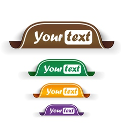 Collection of bookmarks vector image vector image