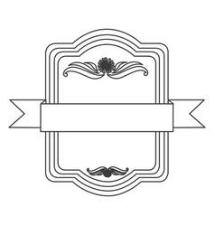 figure square emblem icon vector image vector image