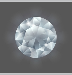 round diamond vector image