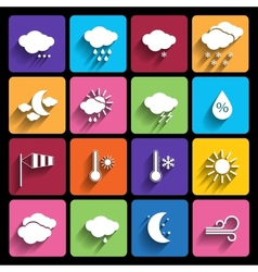 Weather icons set - vector image