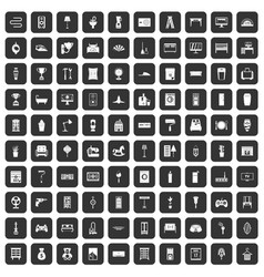 100 home icons set black vector