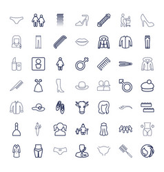 49 female icons vector