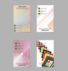 Abstract business brochure compositions in vector