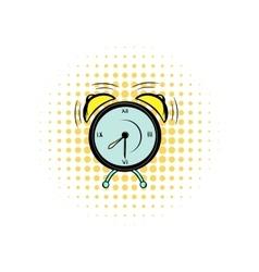 Alarm clock comics icon vector