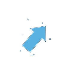 arrow right up icon vector image