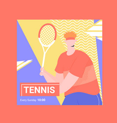 Banner for competitions or training in tennis vector